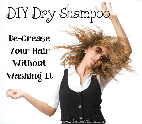 DIY homemade chemical free dry shampoo