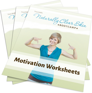 Naturally Clear Skin Motivation & Journalling Worksheets