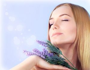 Sniffing essential oils
