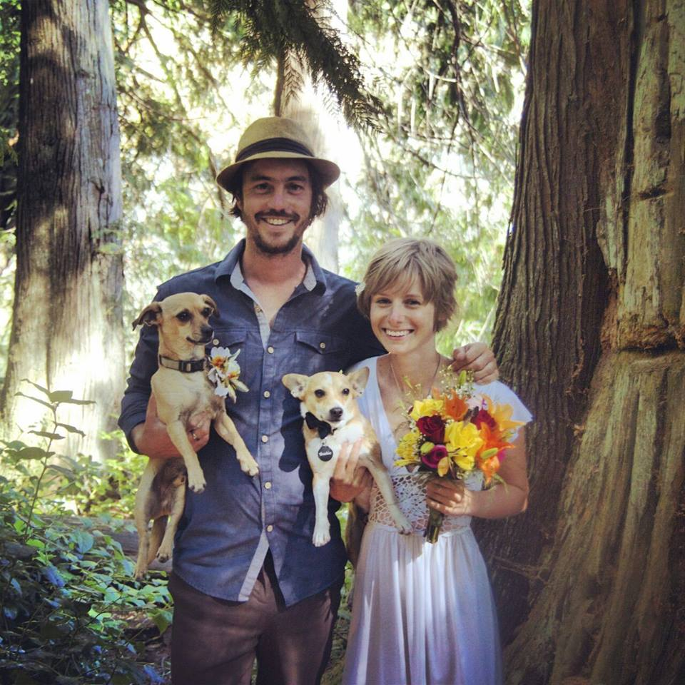 My little family. Luckily no acne on my wedding day, phew!