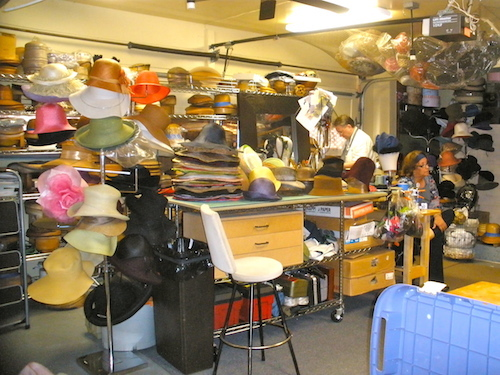The hat making shop