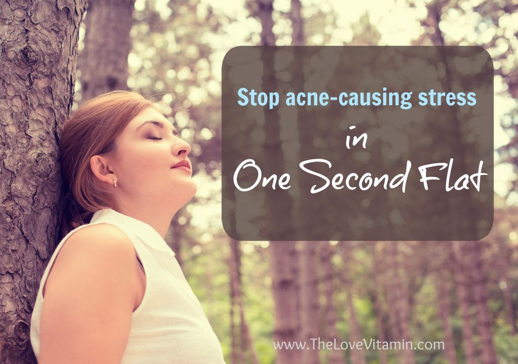 Relieve acne-causing stress